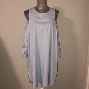Tibi blue cut out shoulder dress in size 6